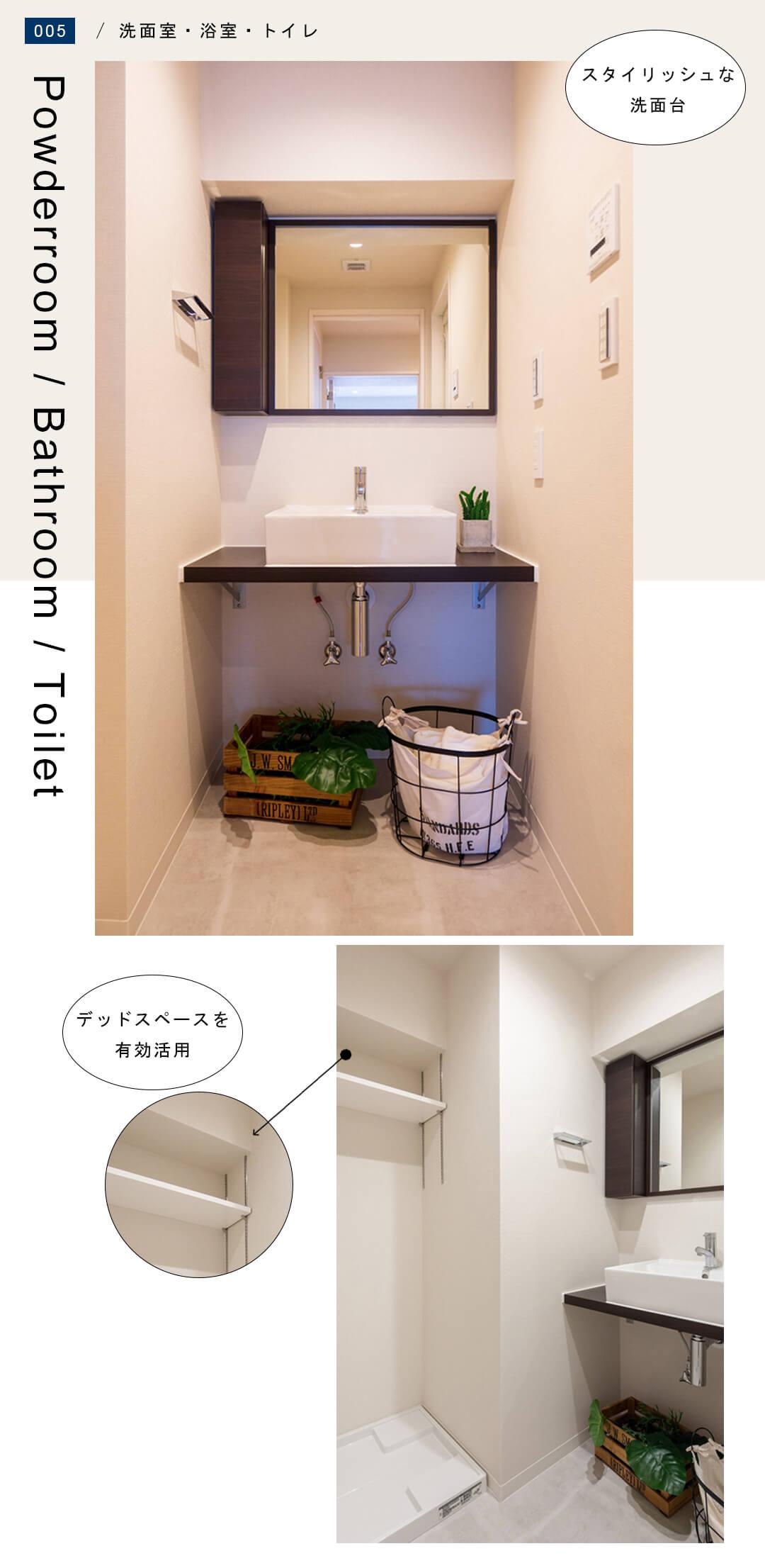 ベルメゾン浅草橋の洗面室