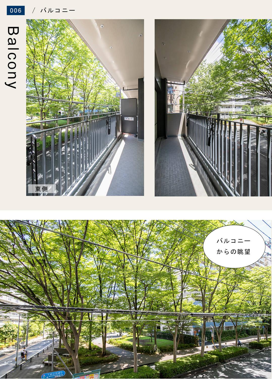 リブネスモア戸田公園206のバルコニー