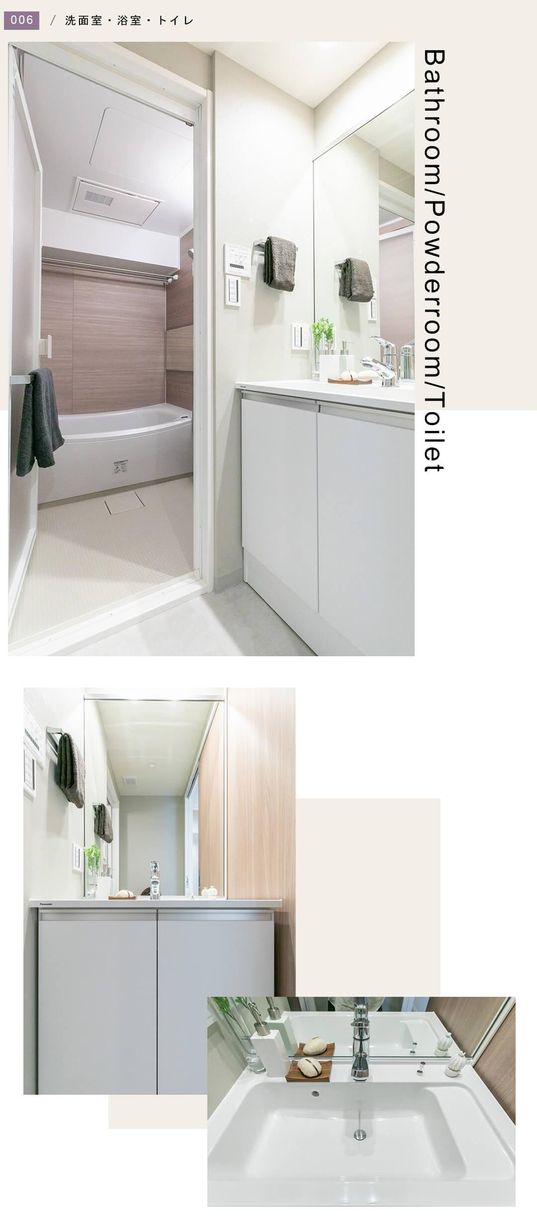 サンライフ池田山 302の洗面室