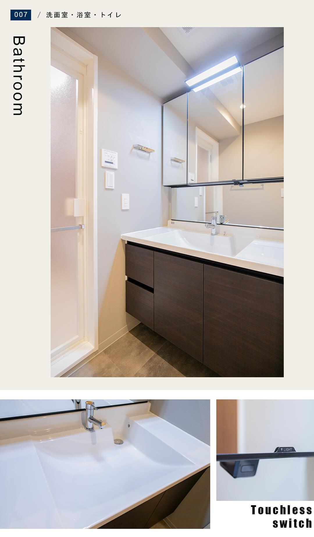 ファミールプランシェ松原の洗面室
