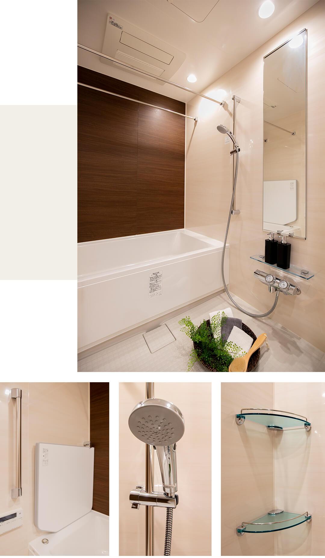 クレッセント目黒青葉台の浴室