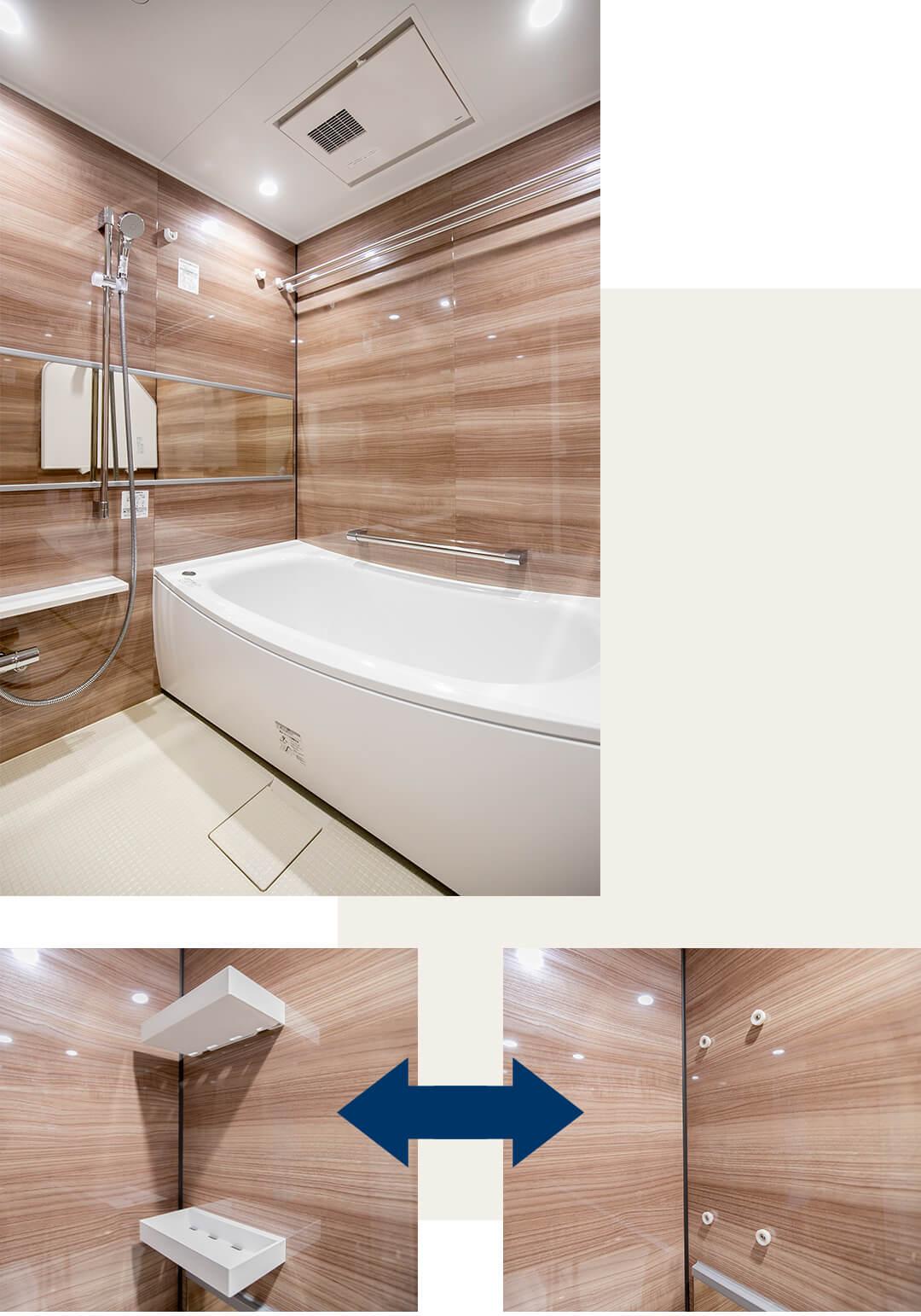 ファミールプランシェ松原の浴室