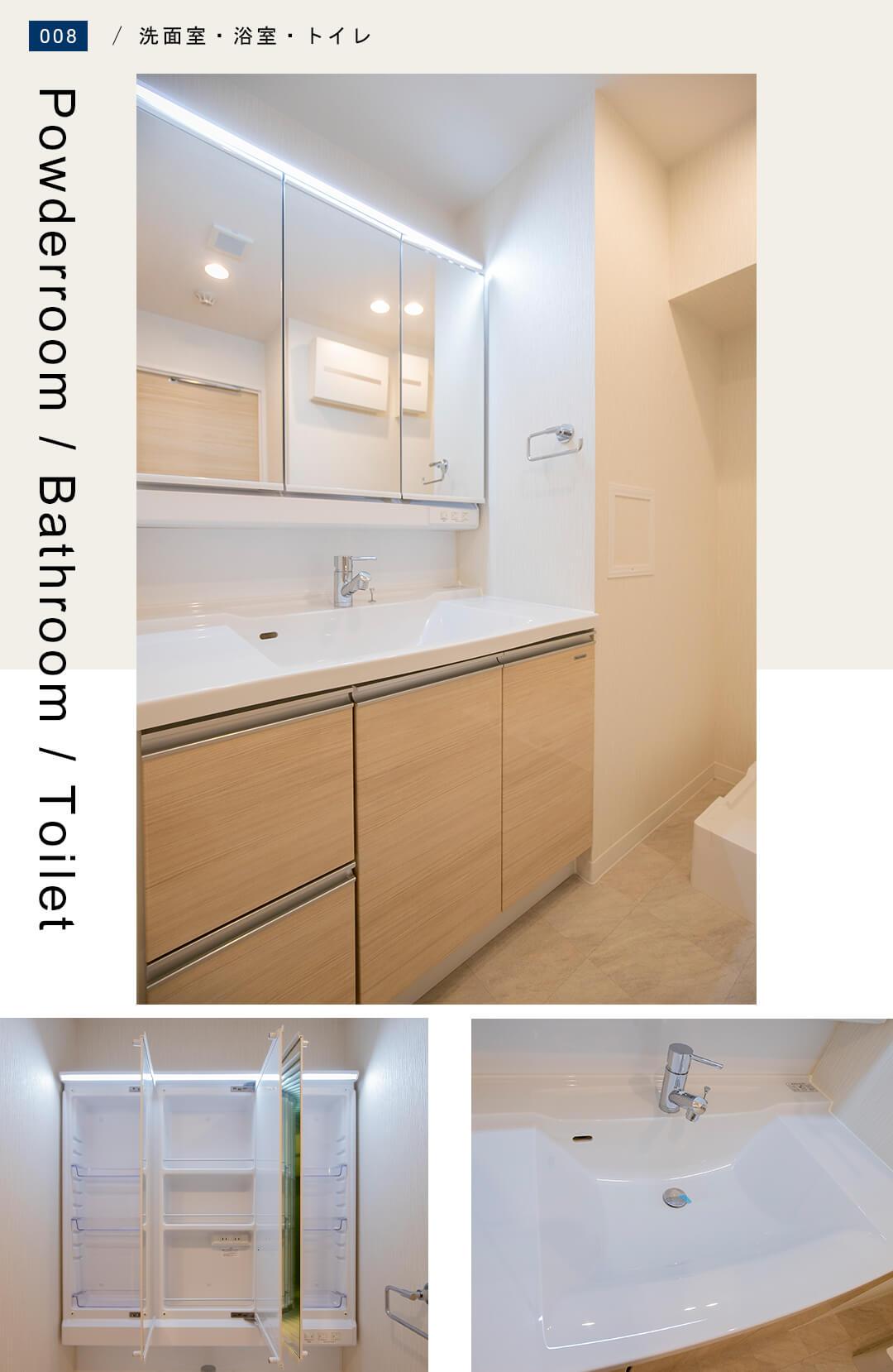 リブネスモア戸田公園206の洗面室
