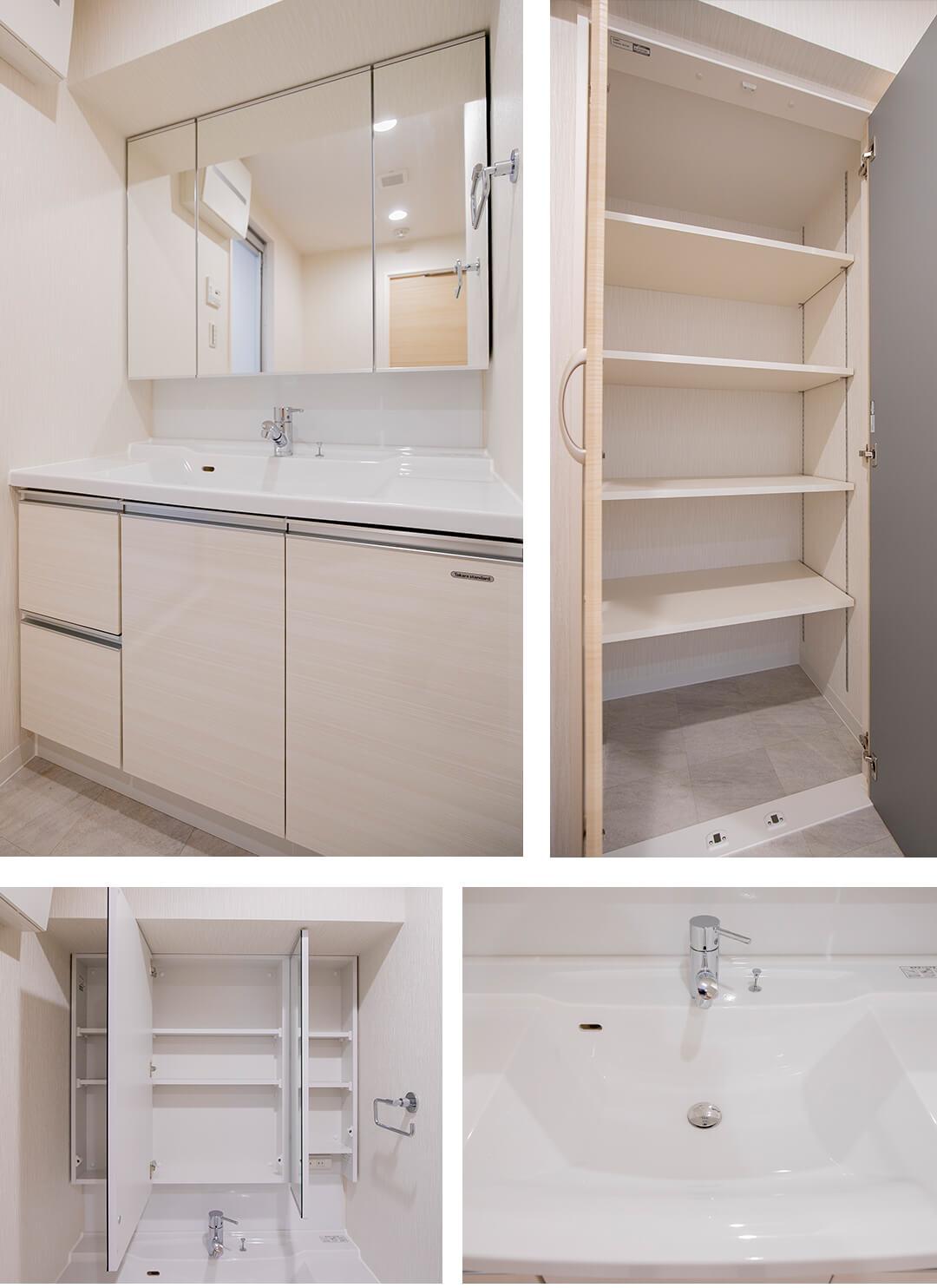 リブネスモア戸田公園303の洗面室