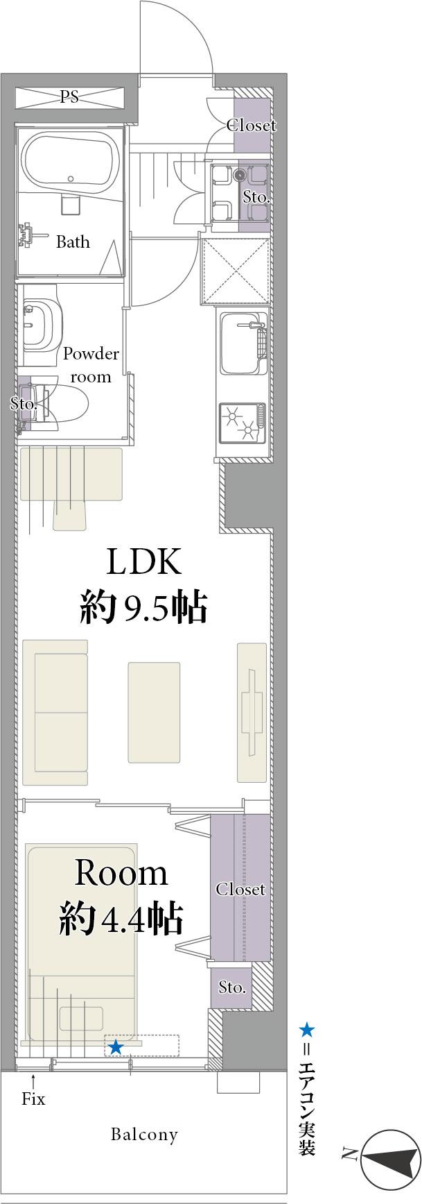 エル・アルカサル渋谷 間取り図