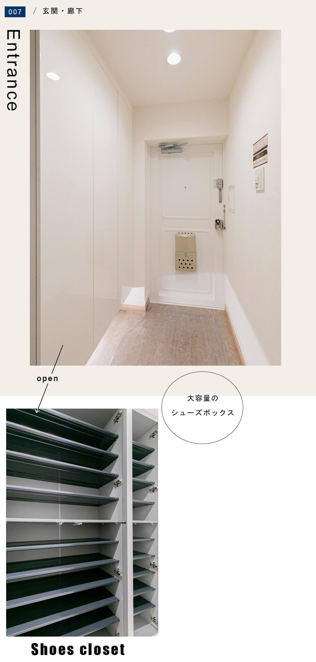 中銀目黒マンシオンの玄関