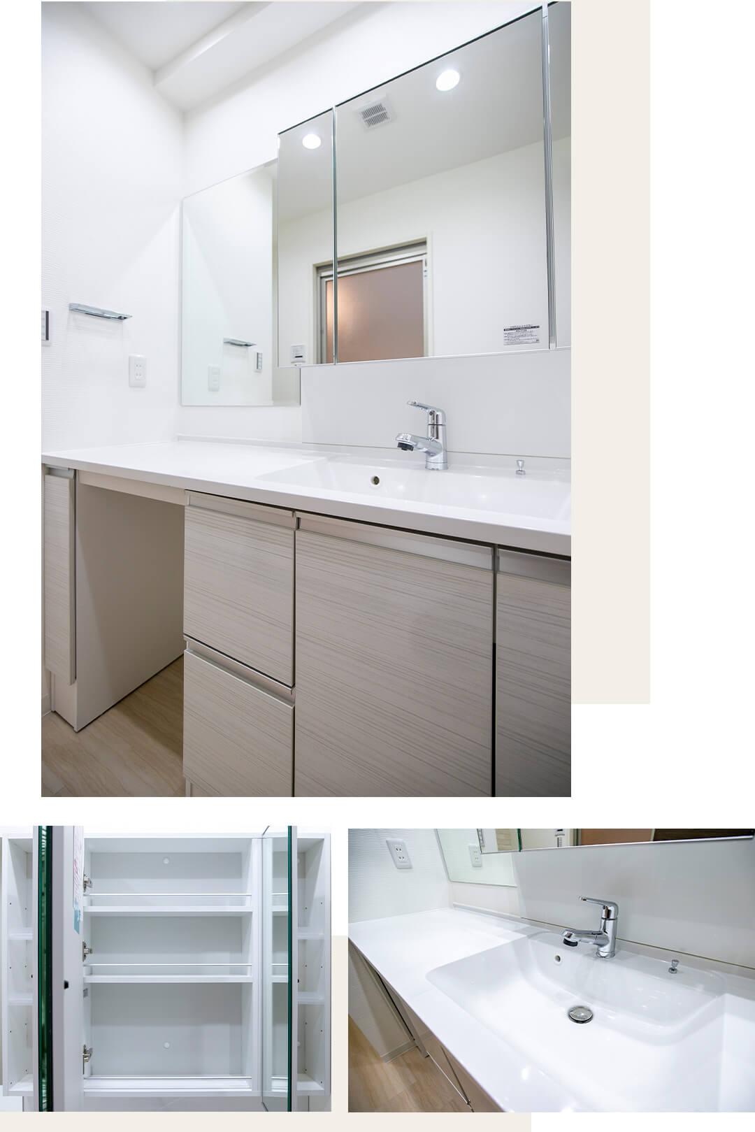 クレッセント二子多摩川Ⅳの洗面室