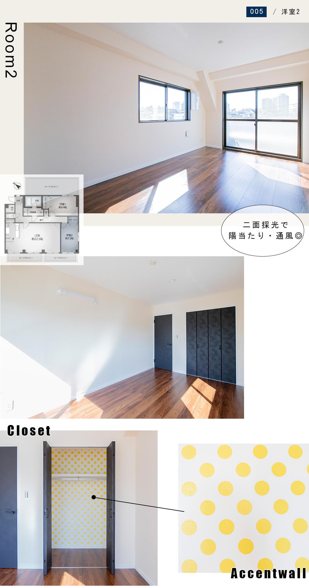 幡ヶ谷YMビルの洋室