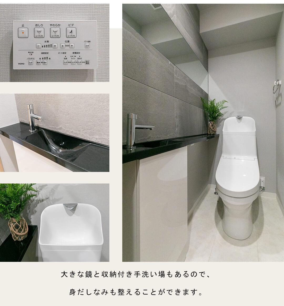 朝日シティパリオ高輪台A館のトイレ