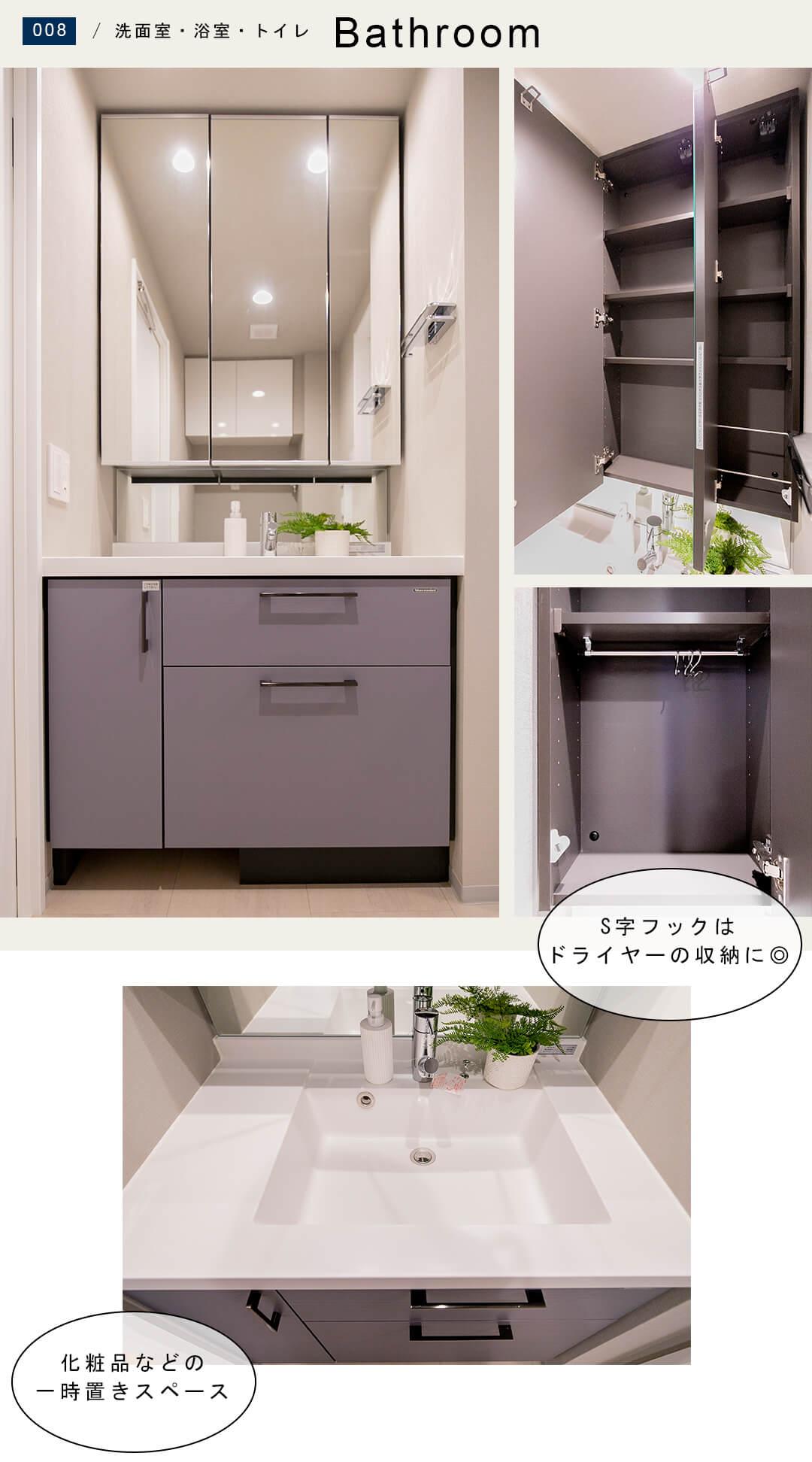 エド・コモン西早稲田の洗面室