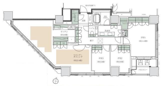 THE 千代田麹町 TOWER 17階 間取り図