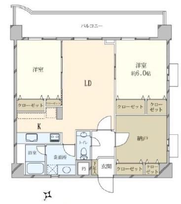 三軒茶屋 家族で住みやすい部屋 間取り図