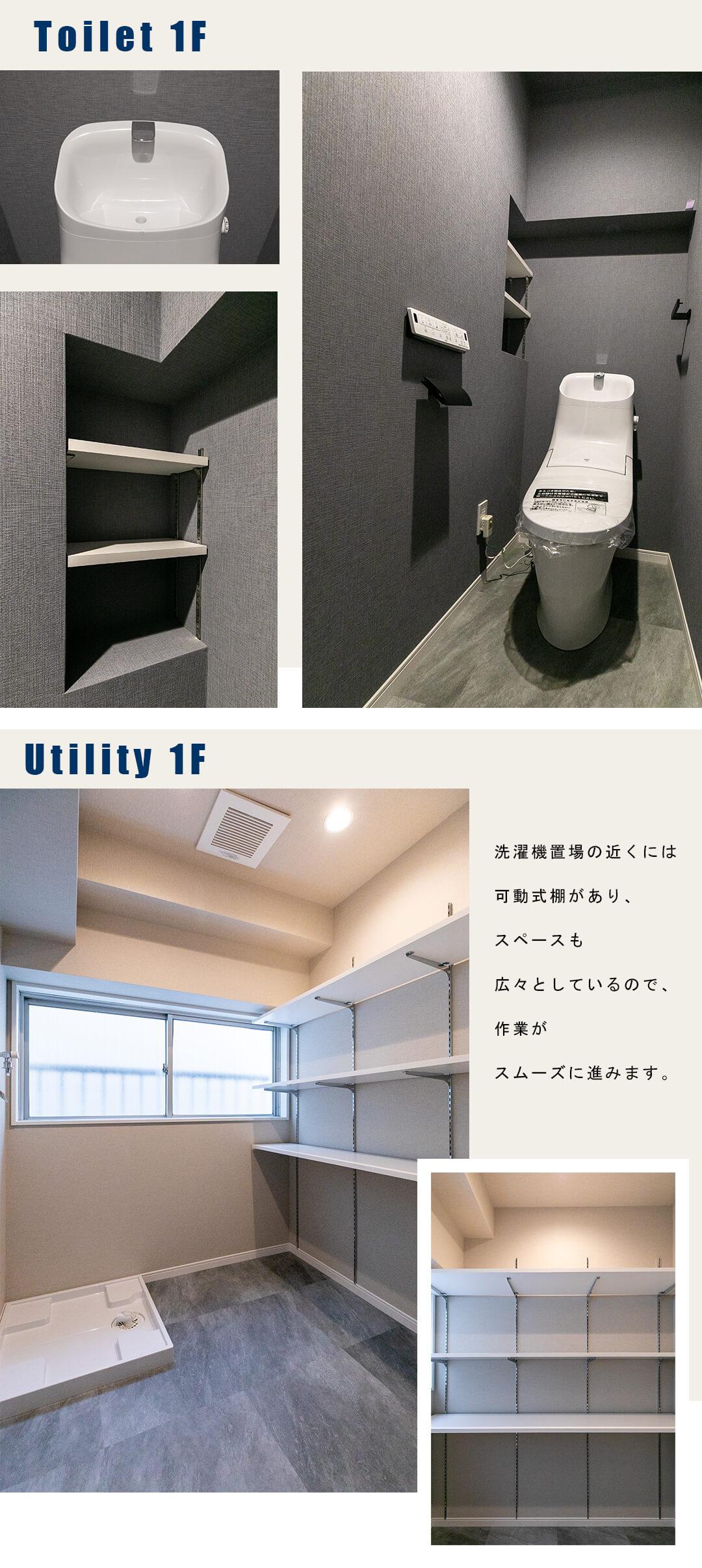 パレドール新宿の1Fユーティリティー