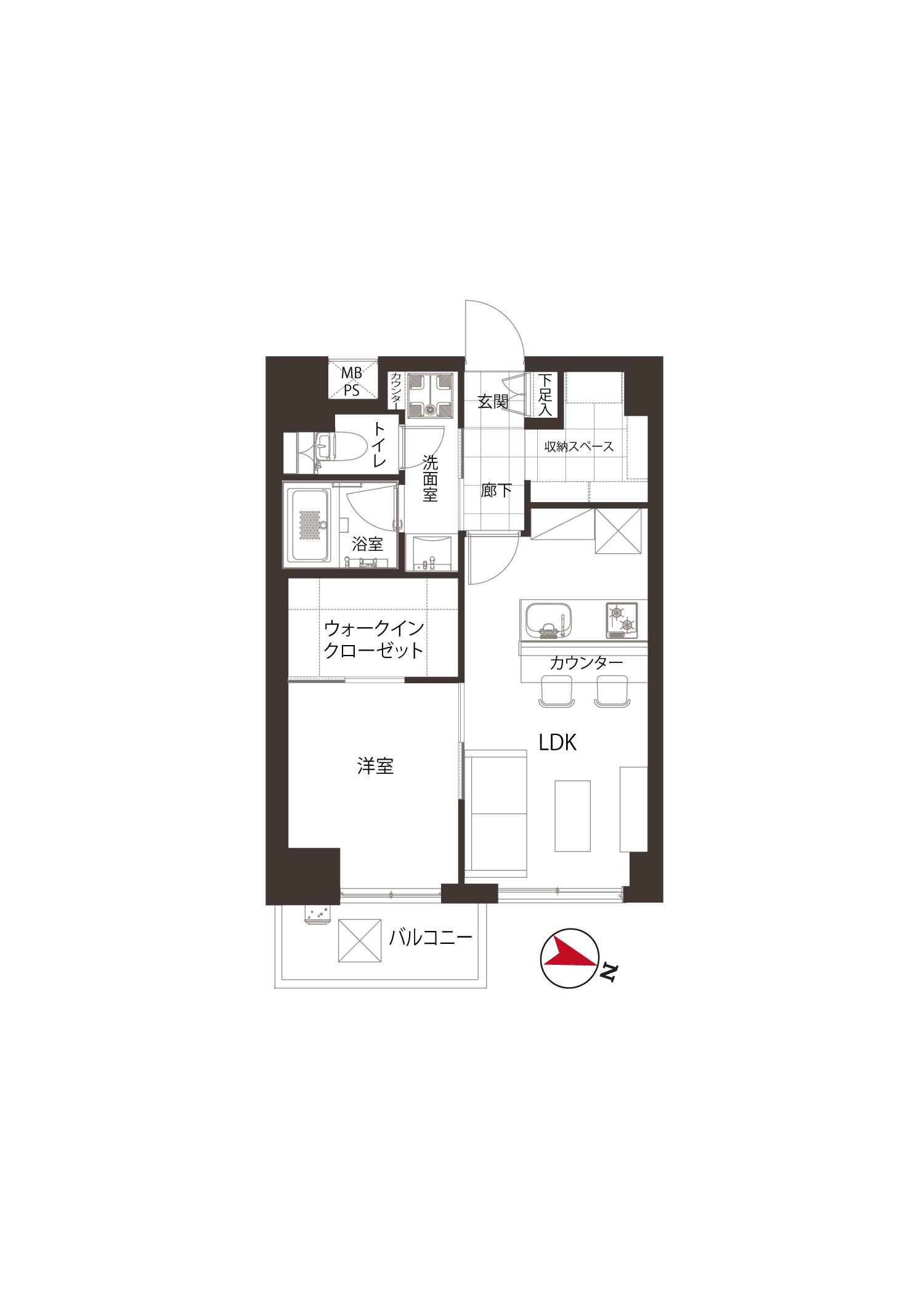若松河田 駅近で便利、過ごしやすい部屋 間取り図