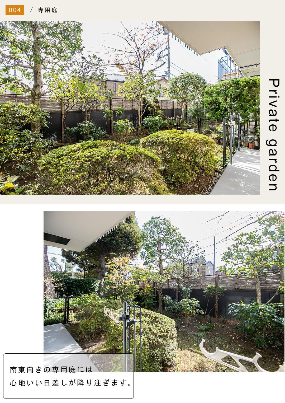 パシフィックパレス荻窪の専用庭