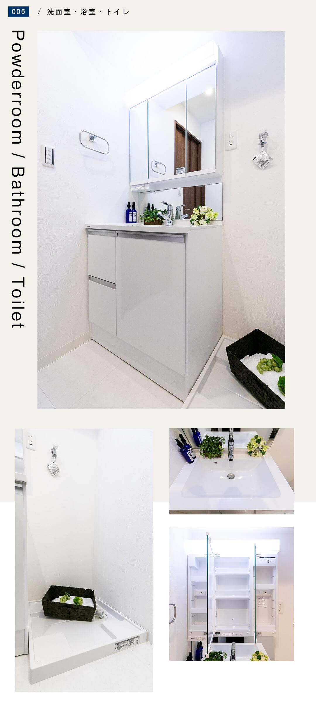 サンビュー外神田の洗面室