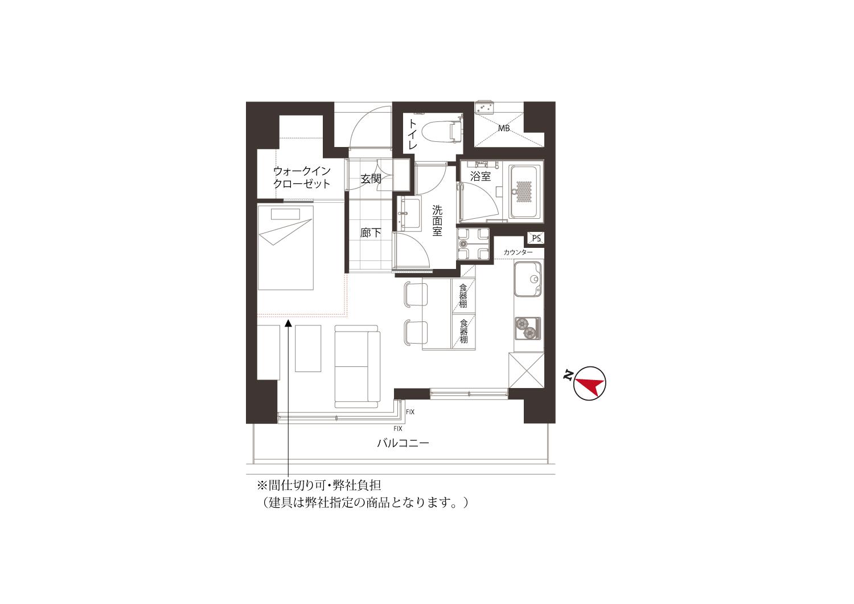 護国寺 コンパクトで使いやすい部屋 間取り図
