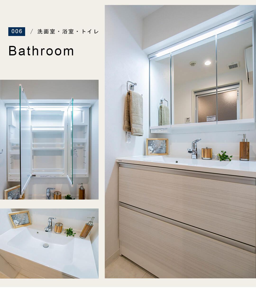 東京アムフラットの洗面室