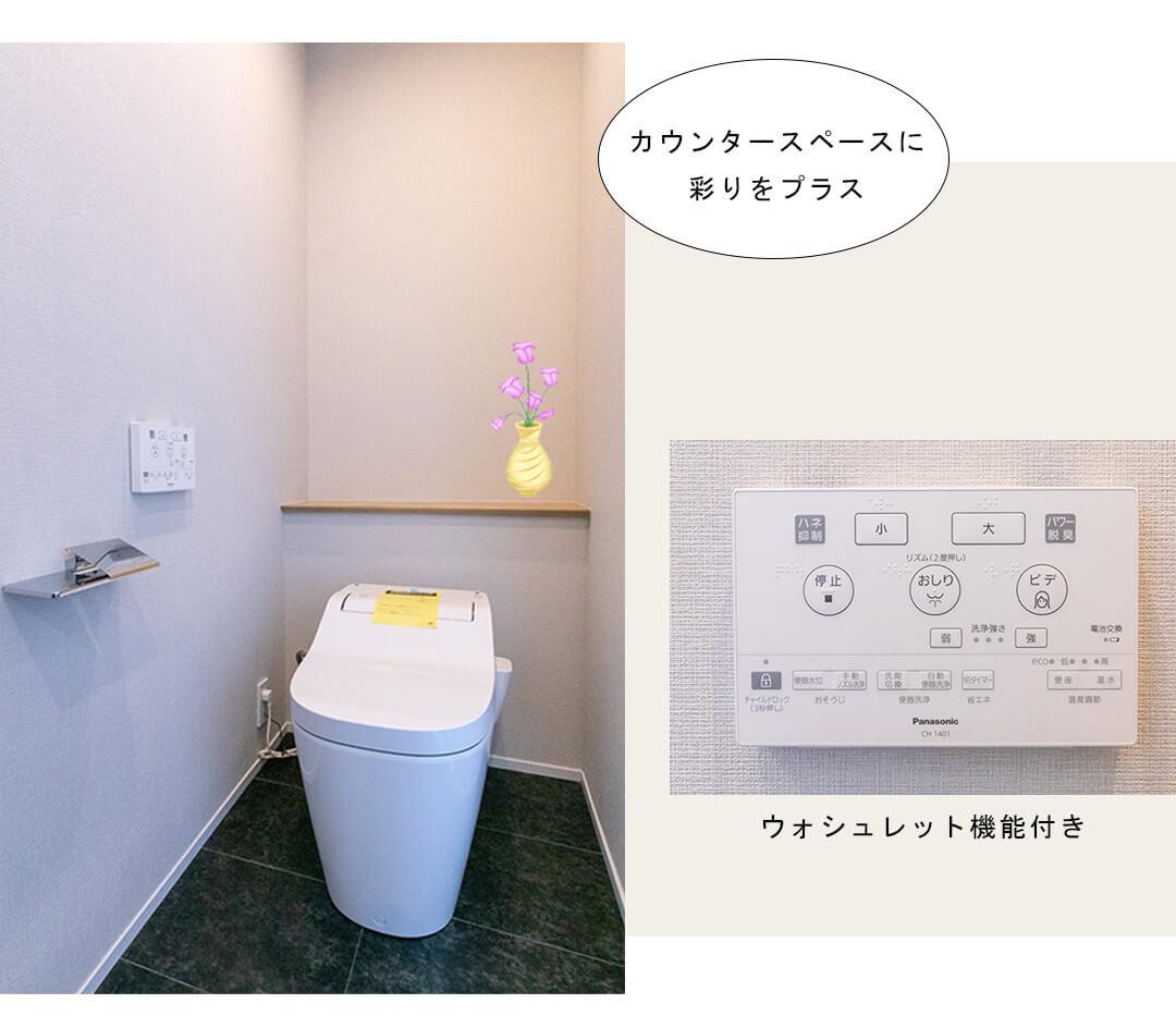 神宮前シティタワー 602のトイレ