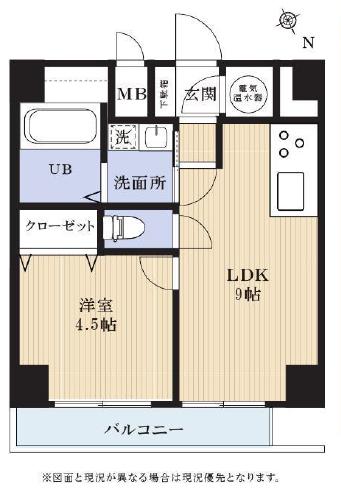 白金高輪 シンプル&インダストリアルな空間 間取り図