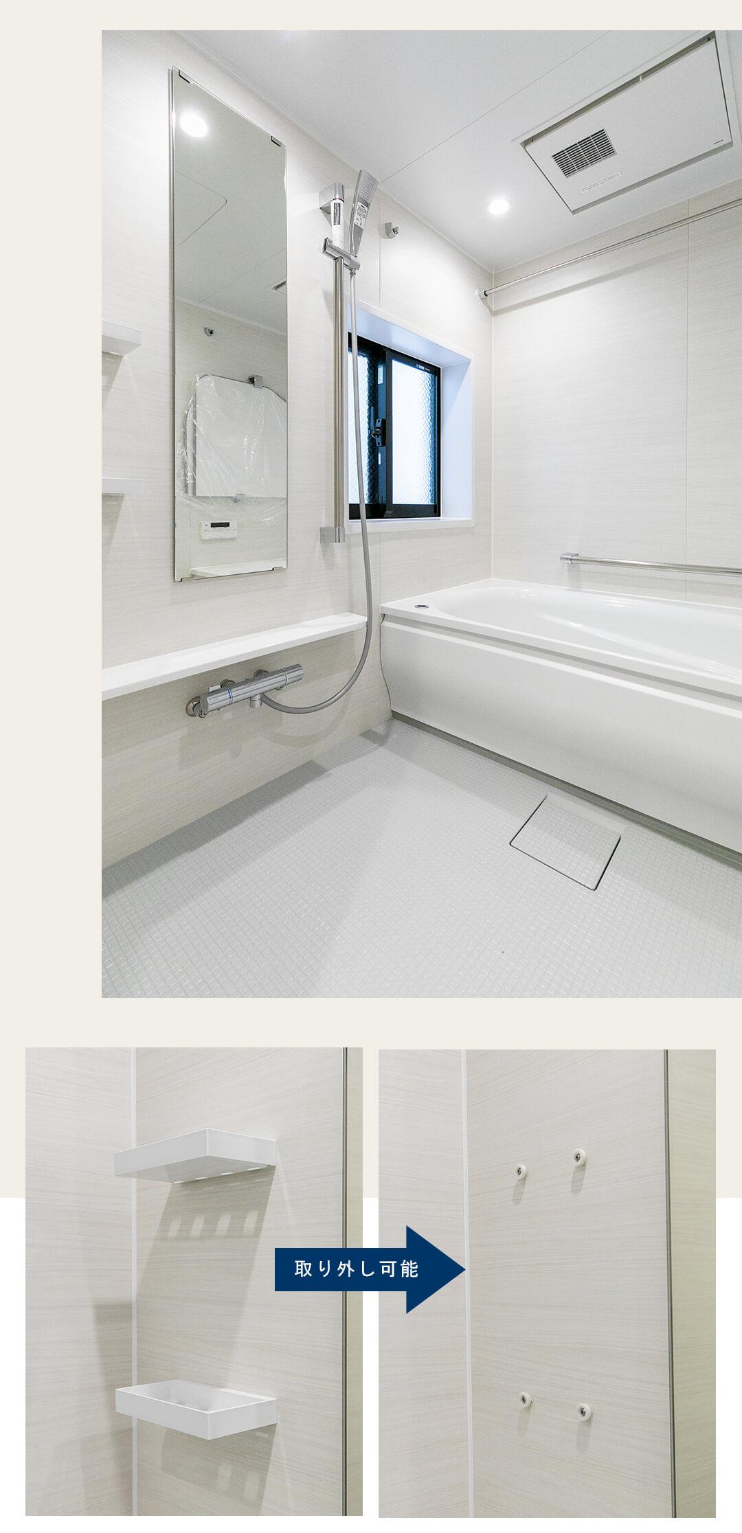 ジェイパーク三田の浴室