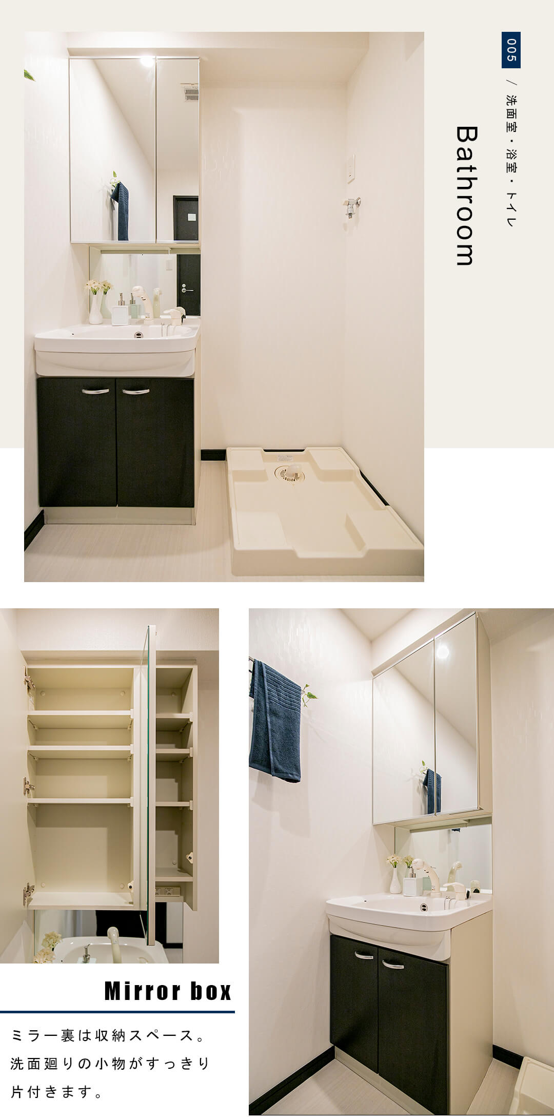 AXAS高田馬場の洗面室