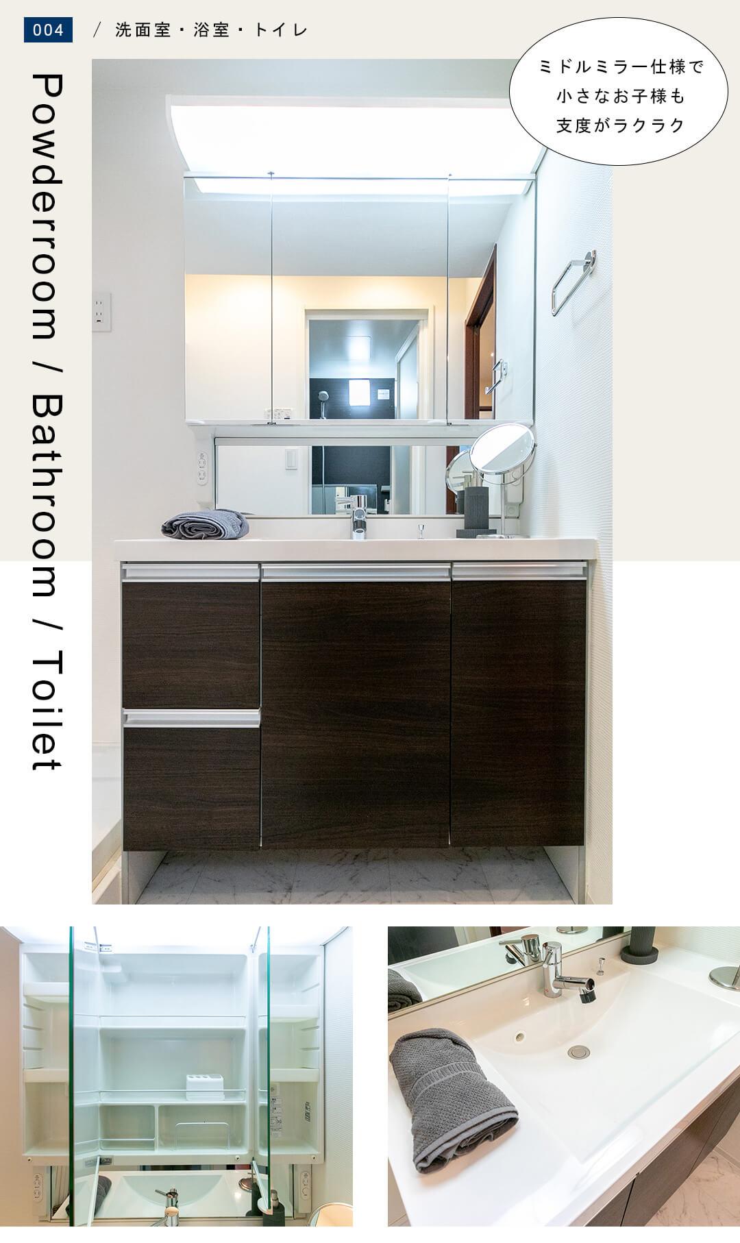 ジョイア上野毛 402の洗面室