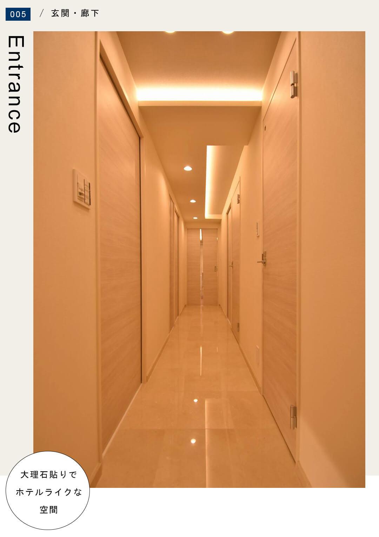 ラ・プラースウエスト 1105の玄関・廊下