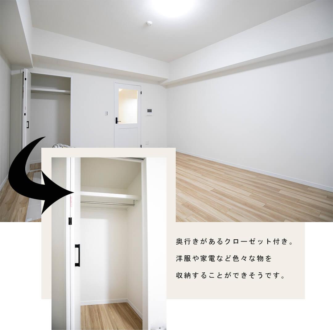 メゾン・ド・ヴィレ日本橋中洲の洋室