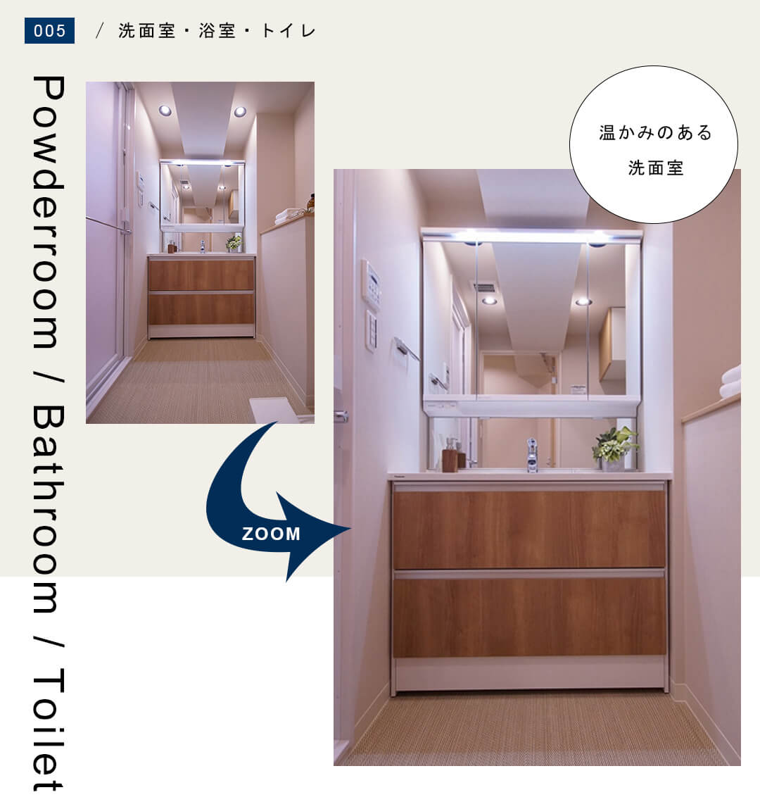 東建参宮橋マンション 706の洗面室