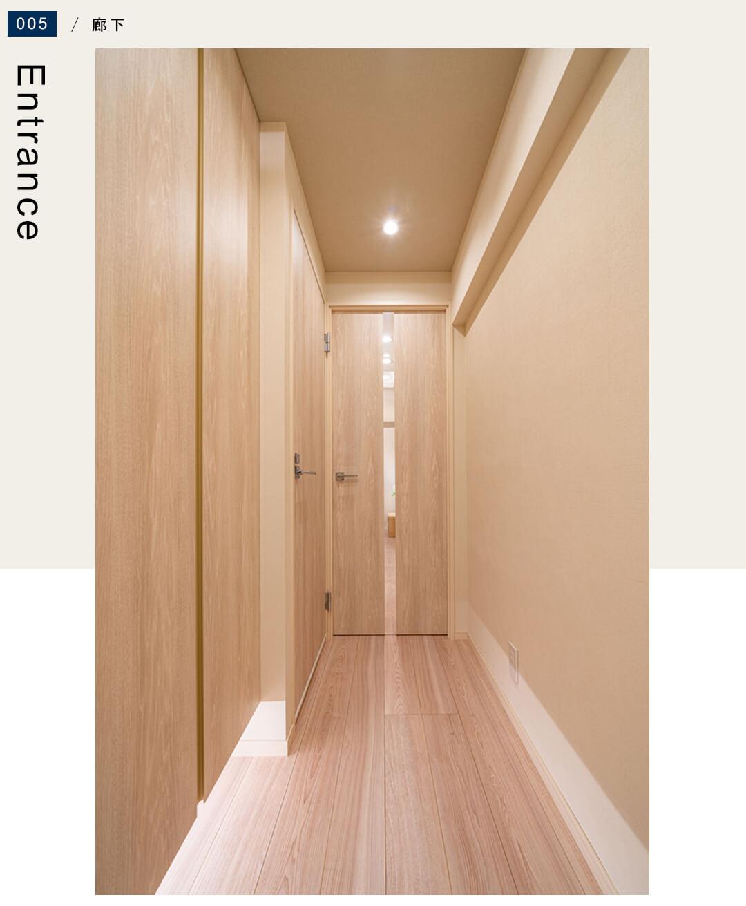 南青山スカイハイツ304の廊下