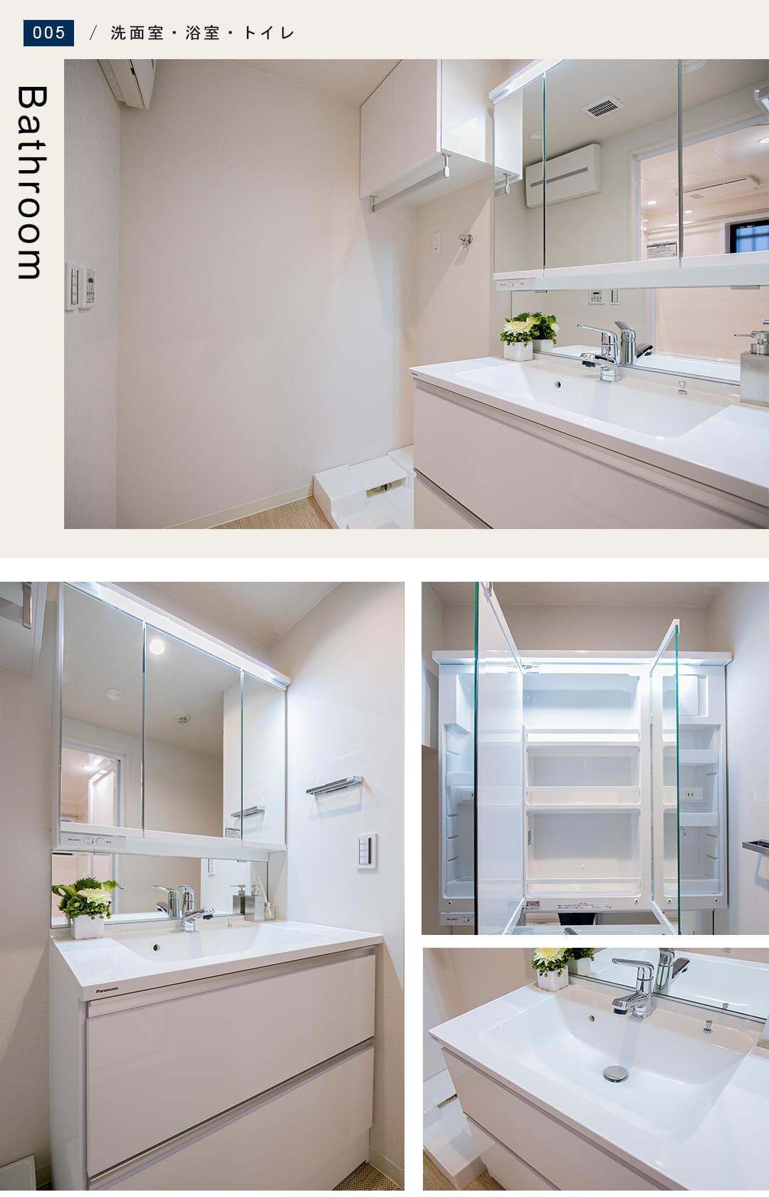 シーズクロノス新宿戸山の洗面室