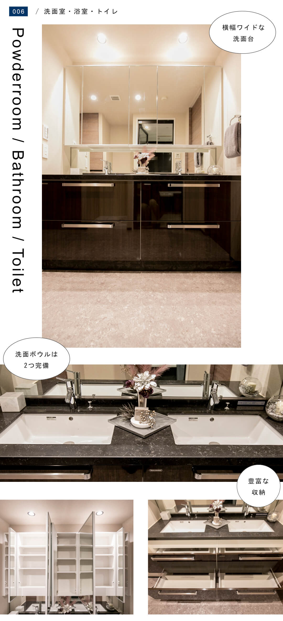 ザ・ウエストミンスター六本木 5XXの洗面室