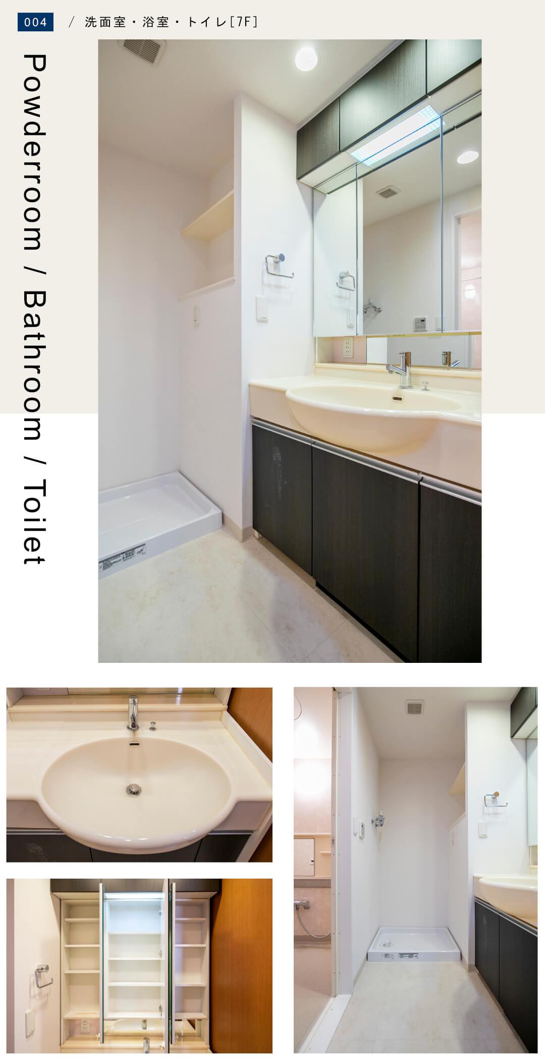 コスモ麻布十番の洗面室