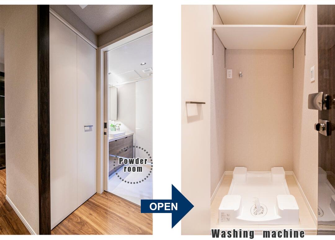 センチュリーパークタワー3307の洗面室