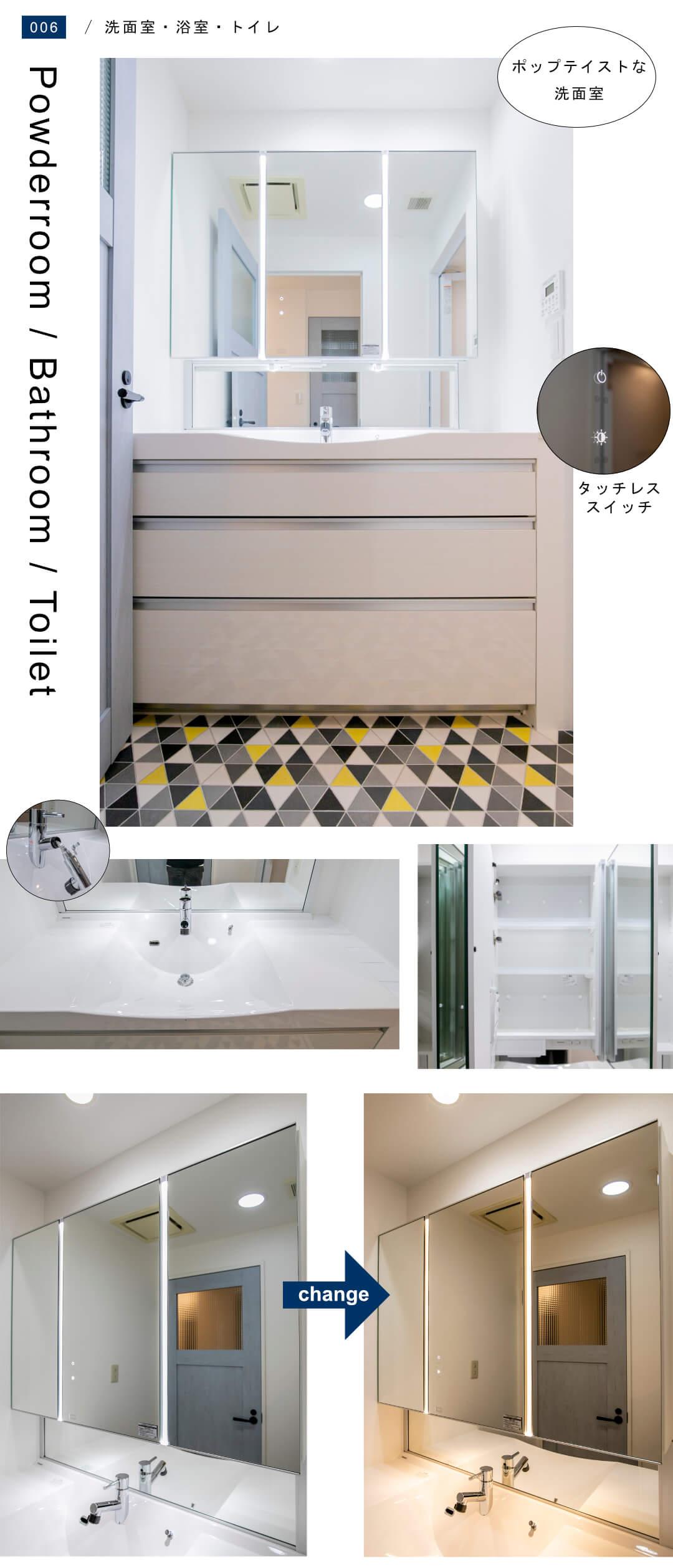 小田急コアロード広尾201の洗面室