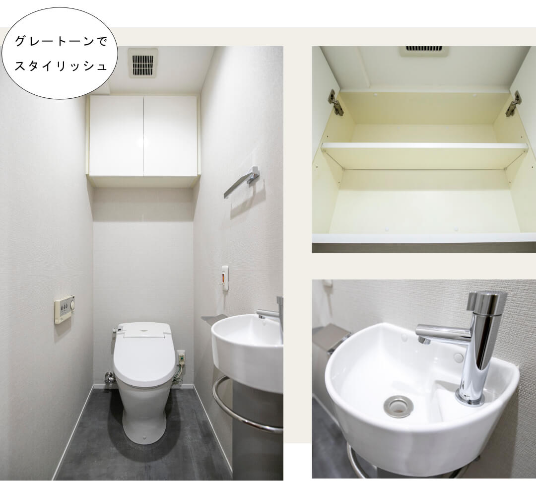 グローリオ目黒不動前303のトイレ