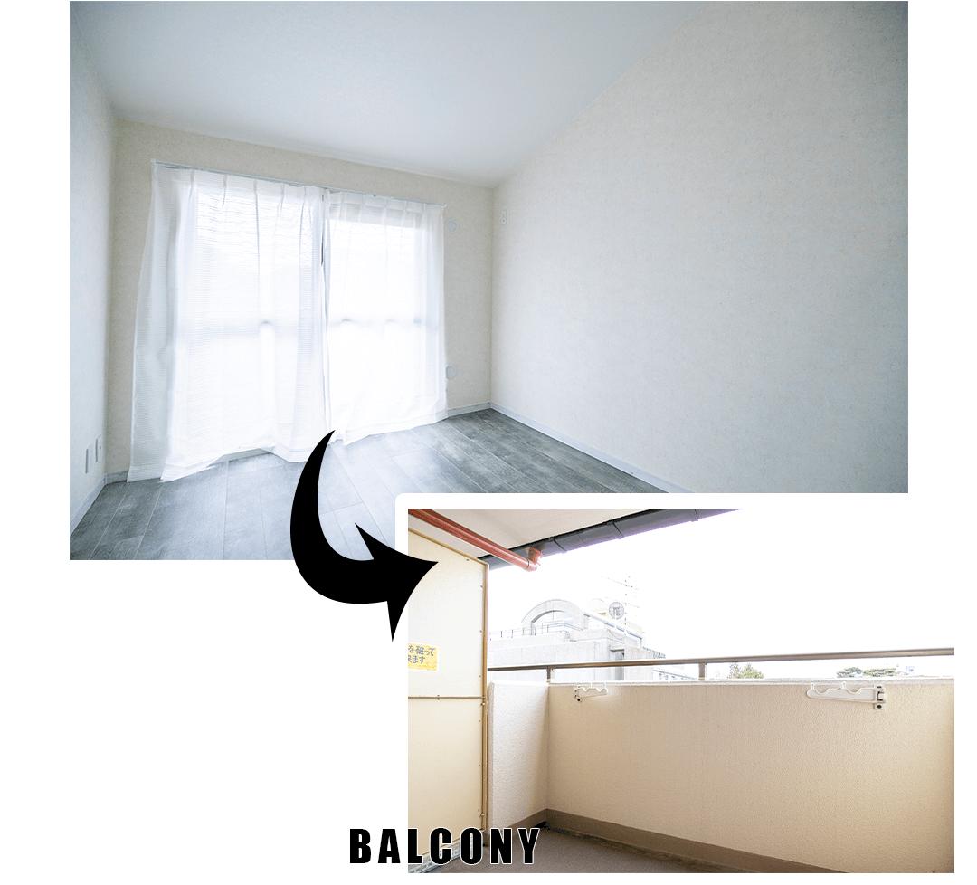 カルム桜新町パティオの洋室2