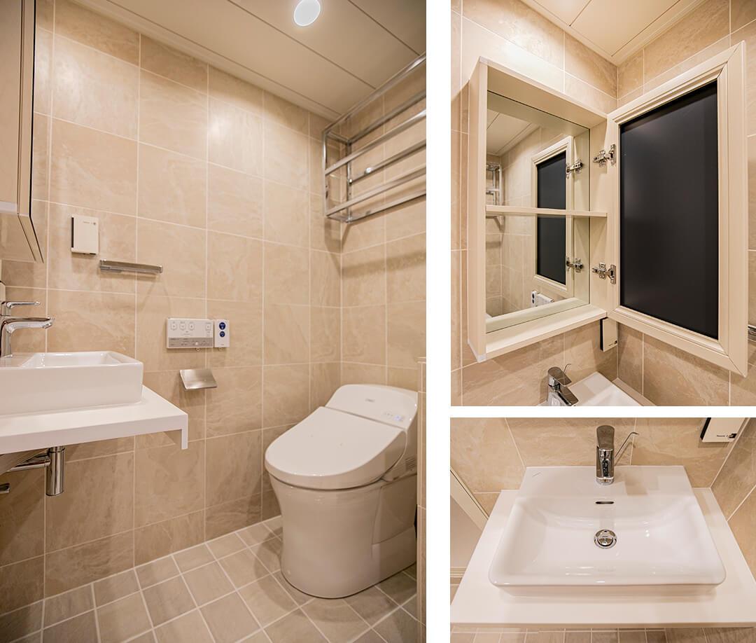 ペアシティ・ルネッサンスのトイレ