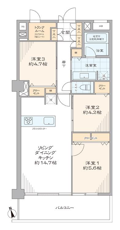 パレ・エテルネル 新宿が生活圏内