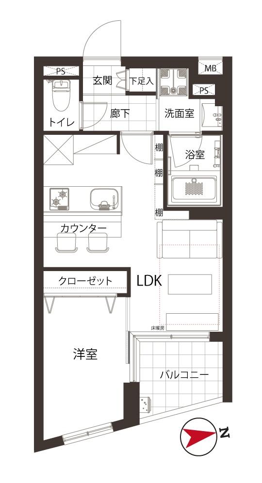 高円寺 飾り棚でワンランク上の空間