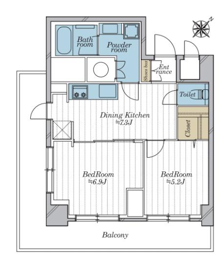 西新宿 住まいとしても、ワーキングスペースとしても使える部屋 間取り図