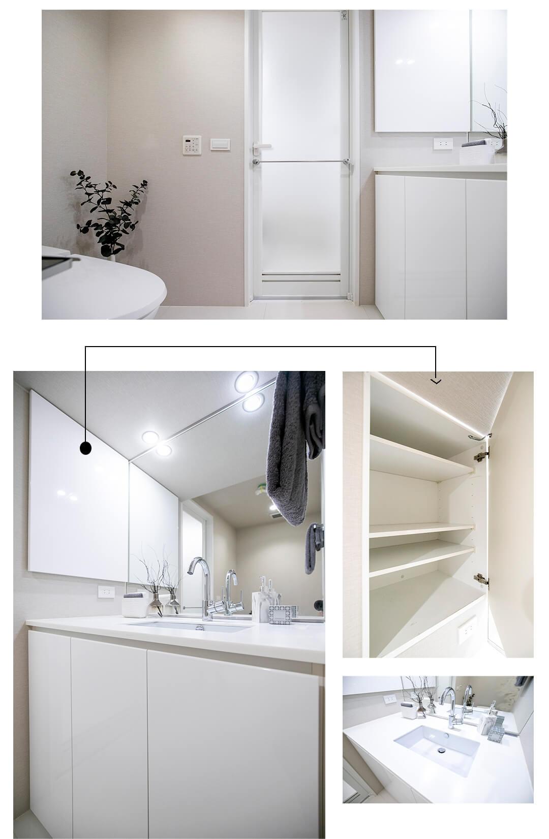 セルフィスタ渋谷の洗面室