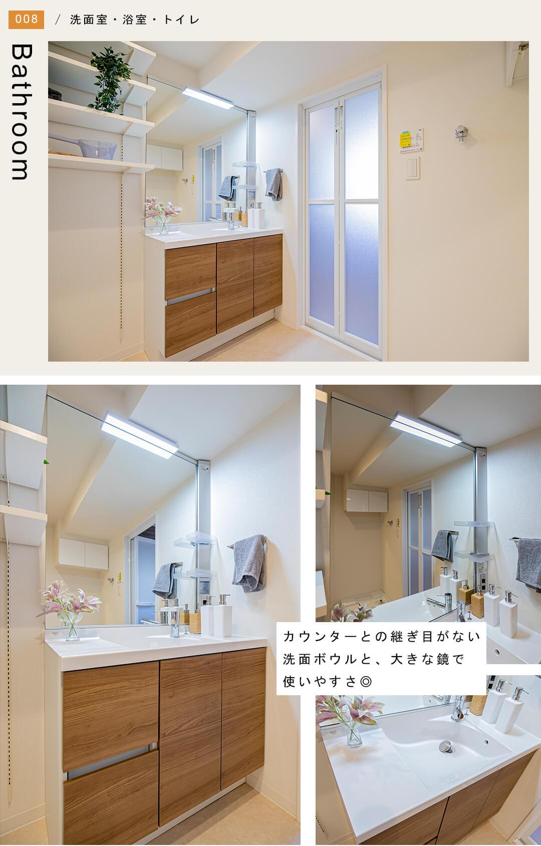 パークハイツ築地の洗面室