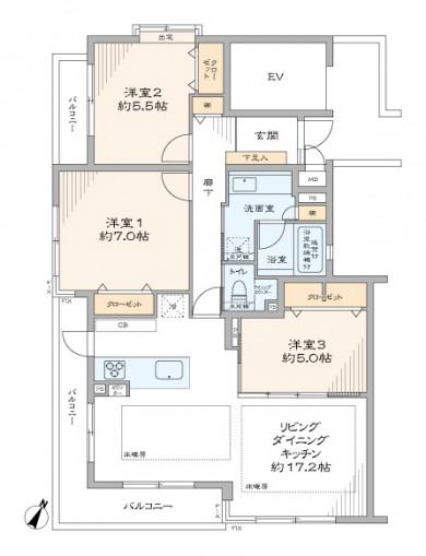 石神井公園 都心へのアクセスと自然豊かな住環境 間取り図