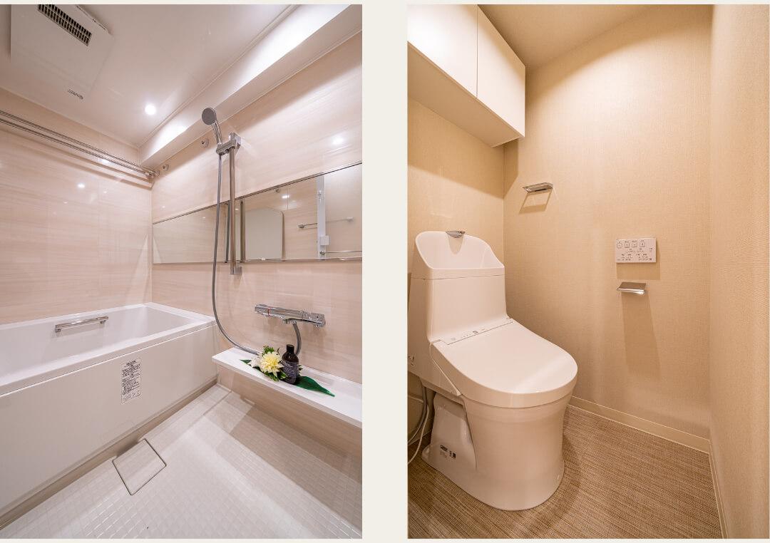 ノア芝大門 610の浴室・トイレ