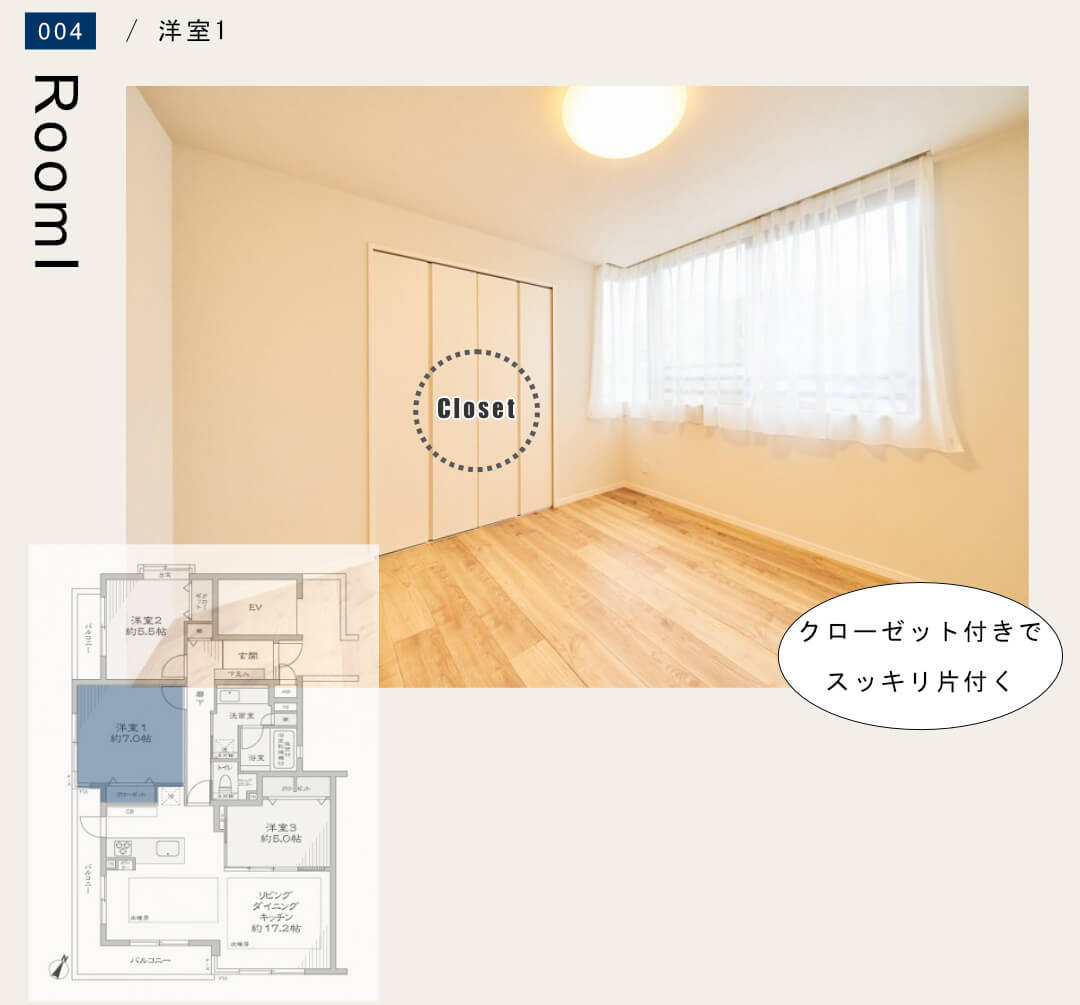ナイスアーバン石神井公園 201号室の洋室1