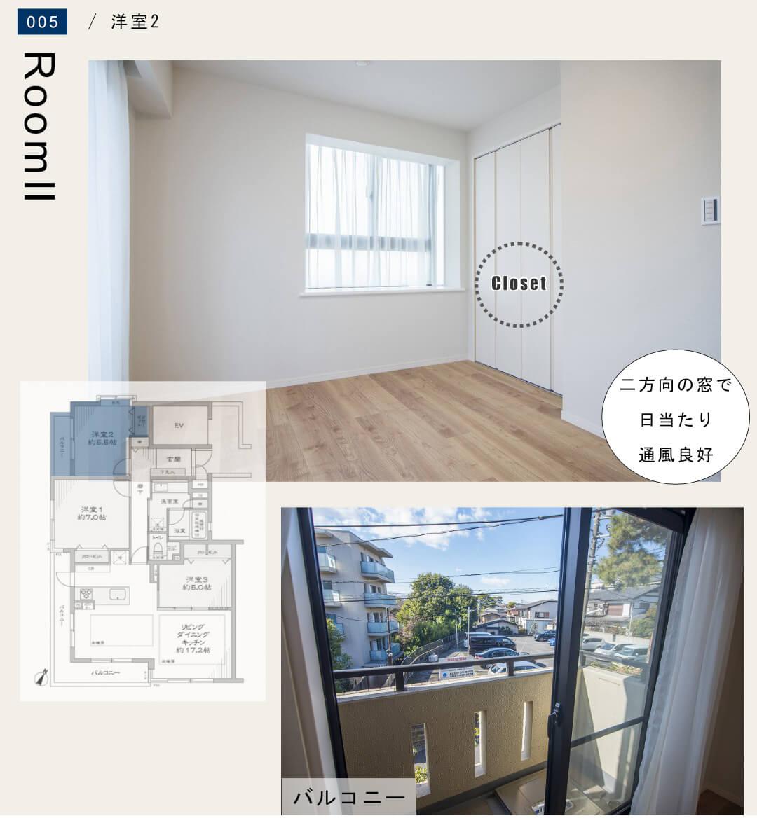 ナイスアーバン石神井公園 201号室の洋室2