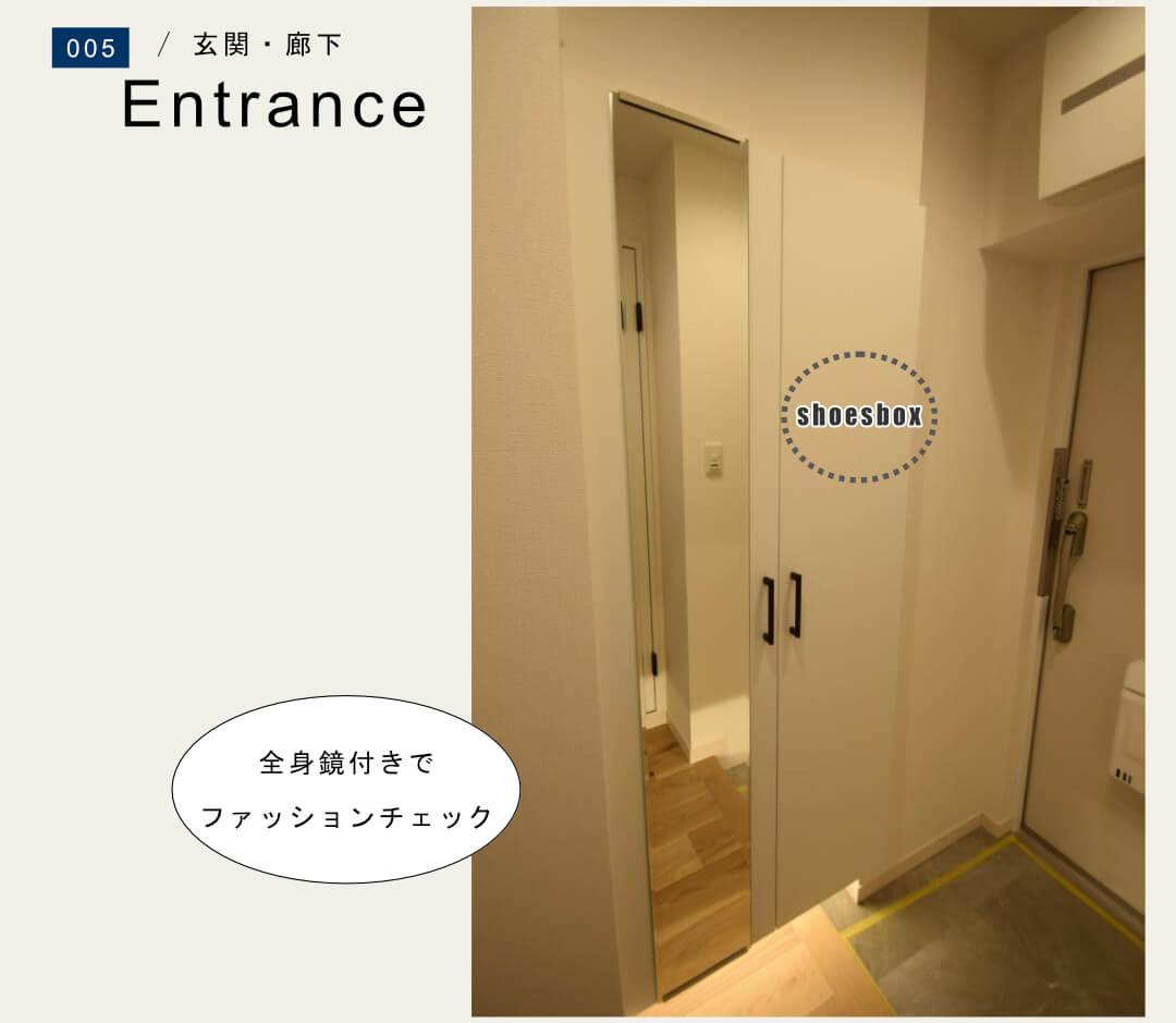 セザール御殿山305号室の玄関