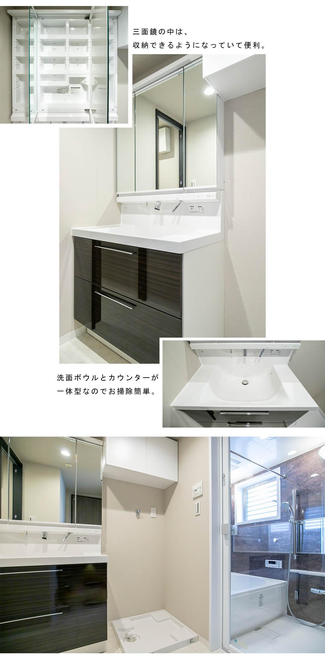 ペイサージュ渋谷FIRSTの洗面室